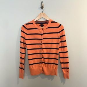 Tommy Hilfiger Pima Cotton Orange Blue Sweater XS